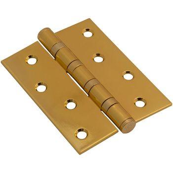 Петля врезная стальная 100*70*2,5 PB Золото (универс.)