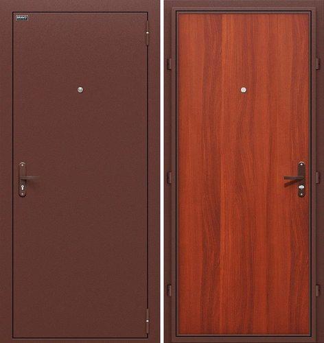 Дверь входная металлическая Эконом в цвете Антик Медь/М-11 (ИталОрех)