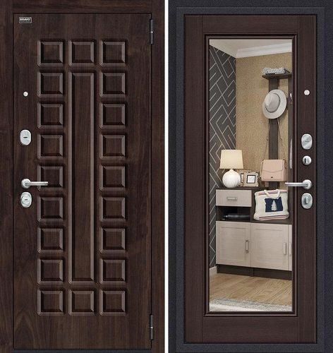 Дверь входная металлическая Урбан в цвете П-28 (Темная Вишня)/Wenge Veralinga остекленная