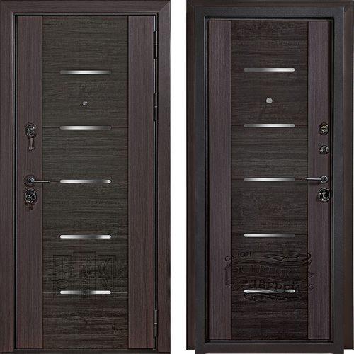 Входная дверь Модерн (Венге тобакко / Манзуния черная)