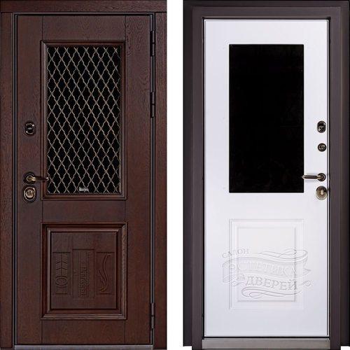 Входная дверь Рио (Орех 3003 / RAL-9003)