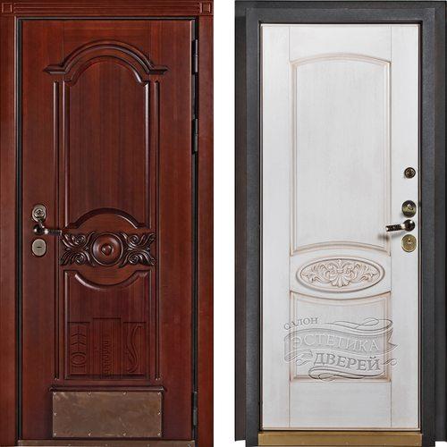 Входная дверь Соренто (Орех / Беленый дуб)