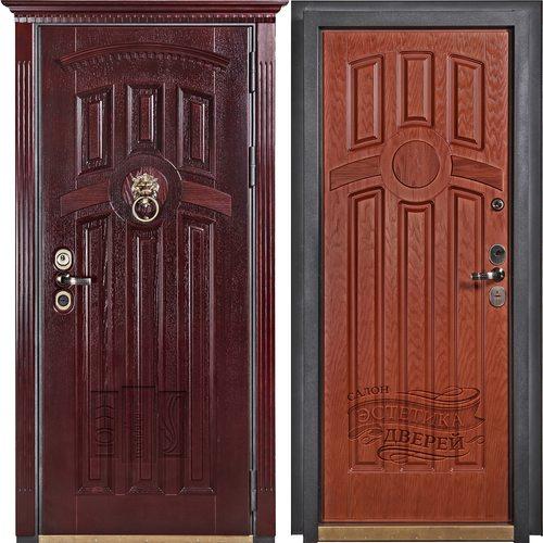 Входная дверь Тулуза (Махагон темный / Вишня)