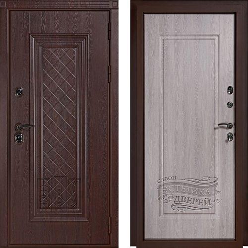 Входная дверь Турин (Дуб филадельфия шоколад / Дуб филадельфия грей)