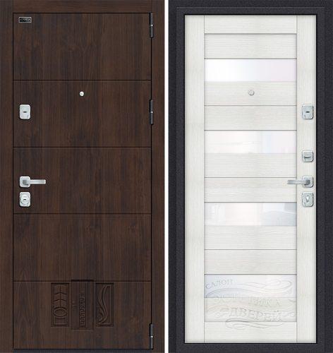 Дверь входная металлическая Porta M 4.П23 в цвете Almon 28/Bianco Veralinga