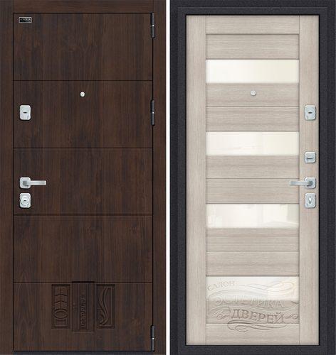 Дверь входная металлическая Porta M 4.П23 в цвете Almon 28/Cappuccino Veralinga