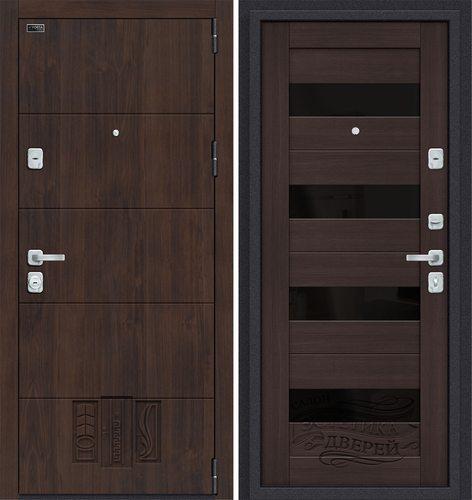 Дверь входная металлическая Porta M 4.П23 в цвете Almon 28/Wenge Veralinga