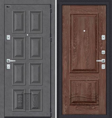 Дверь входная металлическая Porta M К18.K12 в цвете Rocky Road/Chalet Grande