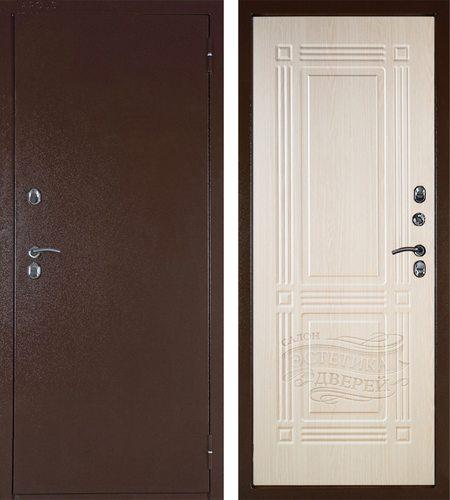 Входная металлическая дверь с терморазрывом Аргус-Тепло Триумф в цветеЛарче Светлый
