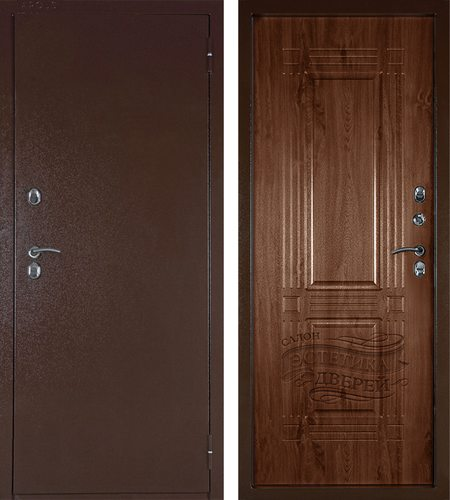Входная металлическая дверь с темроморазрывом Аргус-Тепло Триумф в цветеСтатус коньяк