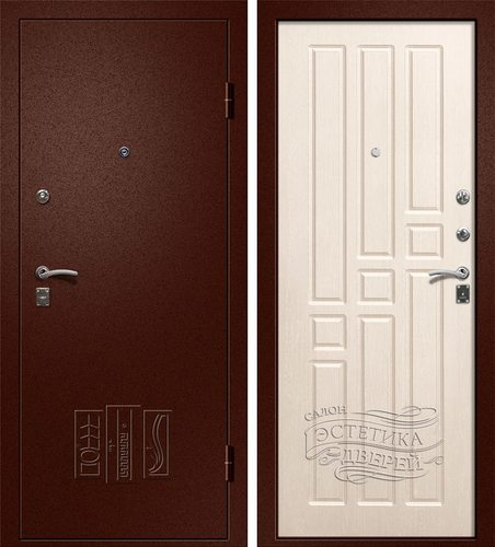Входная металлическая дверь Бриз (Йошкар Ола) в цвете Беленый Дуб