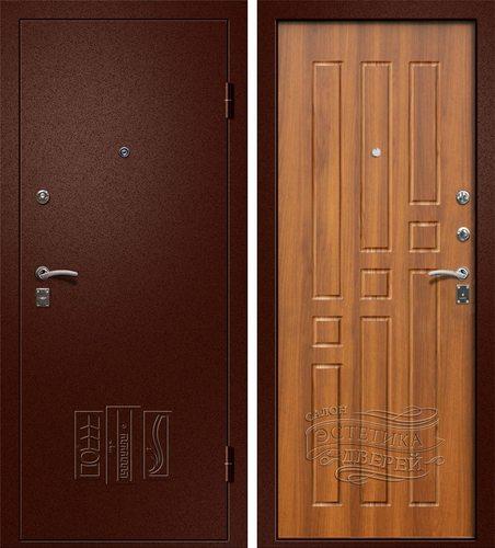 Входная металлическая дверь Бриз (Йошкар Ола) в цвете Рустикальный дуб
