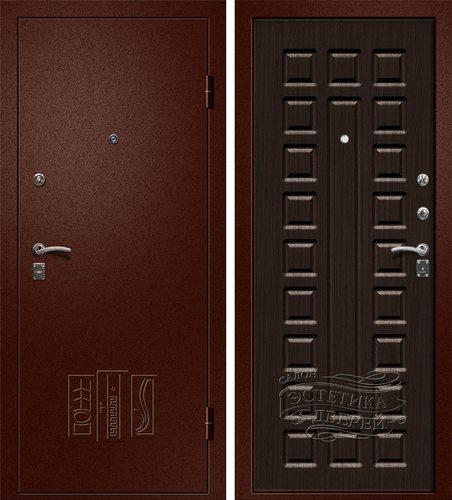Входная металлическая дверь Триумф (Йошкар Ола) в цвете Венге