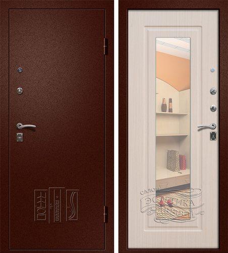 Входная металлическая дверь Царское зеркало (Йошкар Ола) в цветеЛарче Светлый