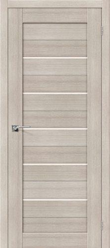 Дверь межкомнатная серии Porta X с покрытием экошпон Порта-22 в цвете Cappuccino Veralinga/Magic Fog остекленная