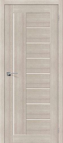 Дверь межкомнатная серии Porta X с покрытием экошпон Порта-29 в цвете Cappuccino Veralinga/Magic Fog остекленная
