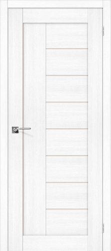 Дверь межкомнатная серии Porta X с покрытием экошпон Порта-29 в цвете Snow Veralinga остекленная