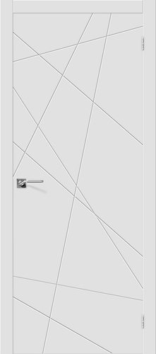 Дверь межкомнатная крашенная (Эмаль) Скинни-5 в цвете Whitey